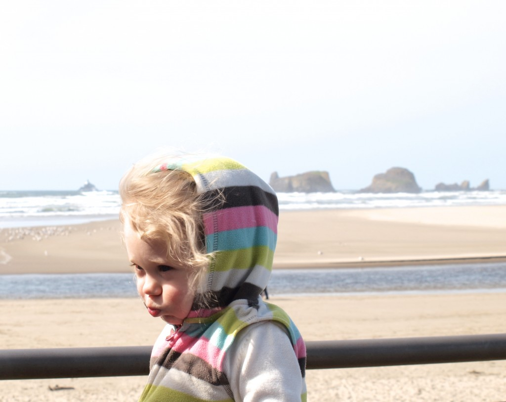 beach, ocean, cannon beach, oregon beach, toddler, cute, sun and sand